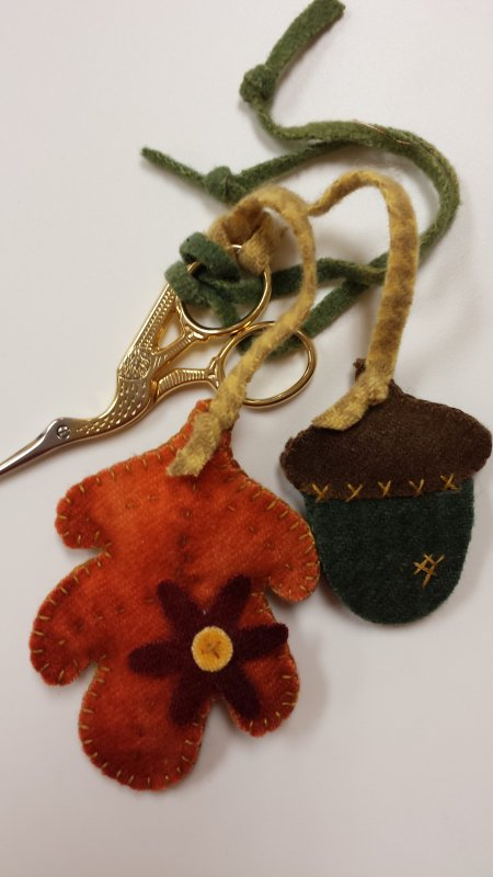 Autumn Duo Pin and Needle Keeper