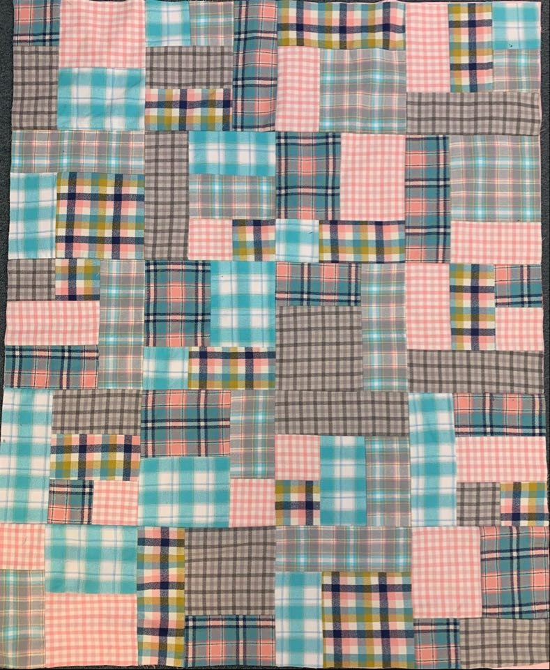 Yellow Brick Road Flannel Quilt  Kit  48 x 57