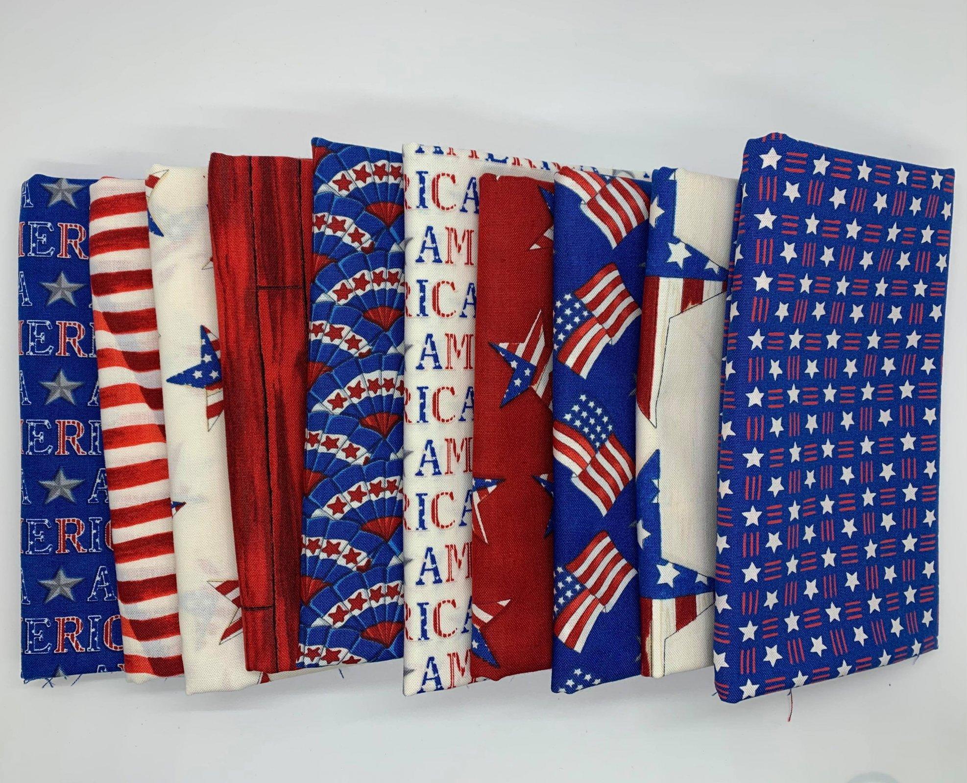 America the Beautiful by Deb Strain -Fat Quarter Bundle (10)
