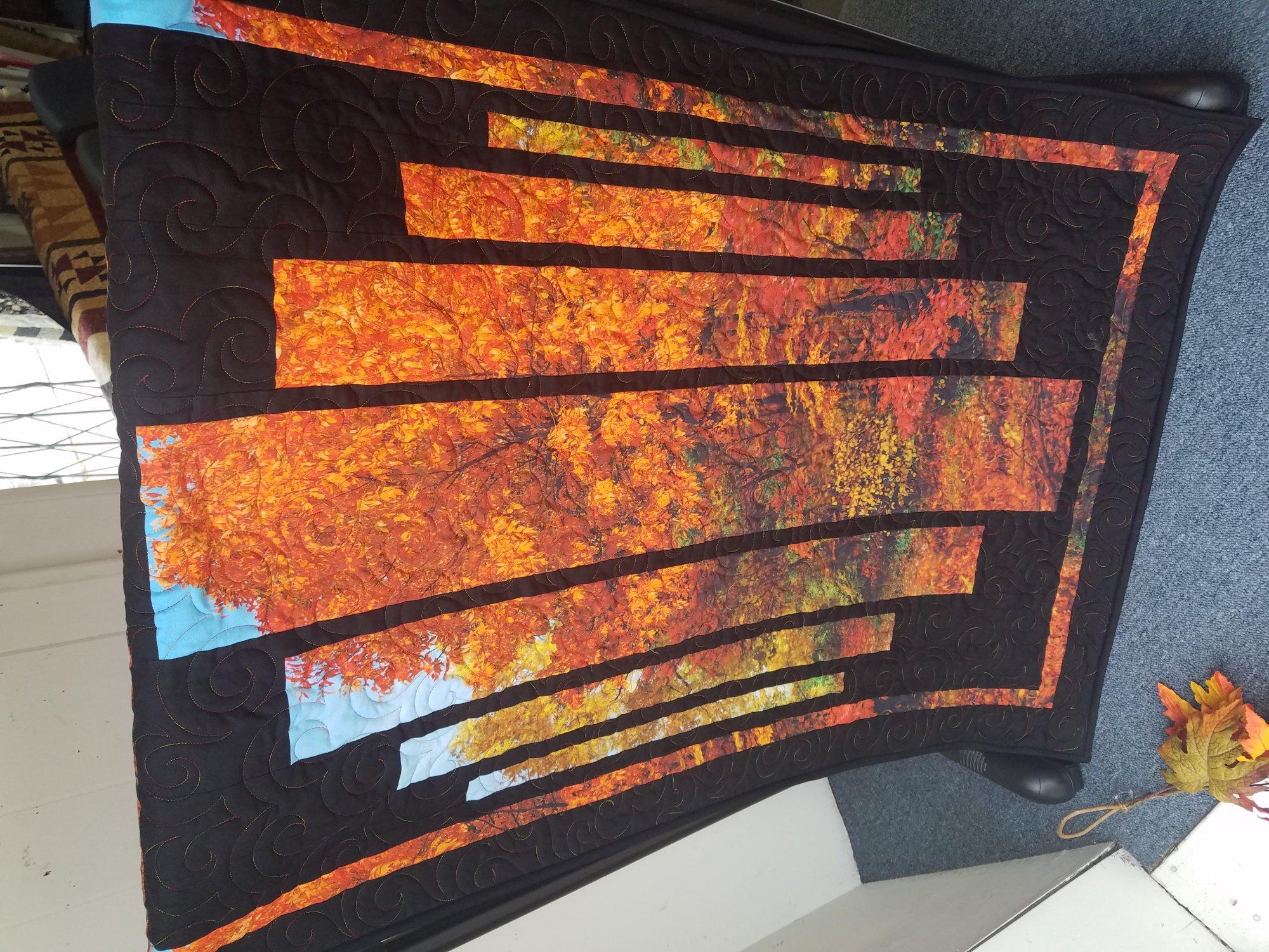 Shenandoah Fall Wallhanging Sample 31 x 48