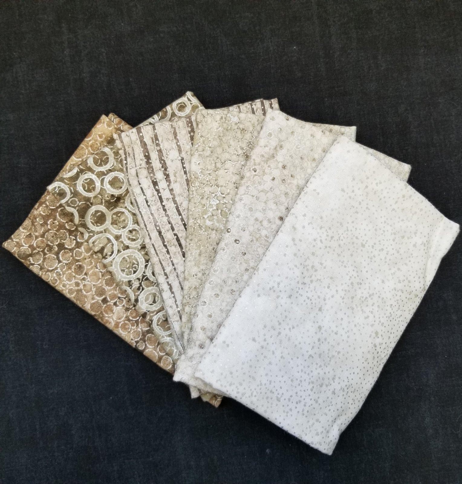 New Shimmer Fat Quarter Bundle (6)