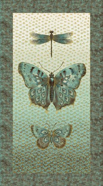 Flight of Fancy Butterfly Panel- 2/3 yd.