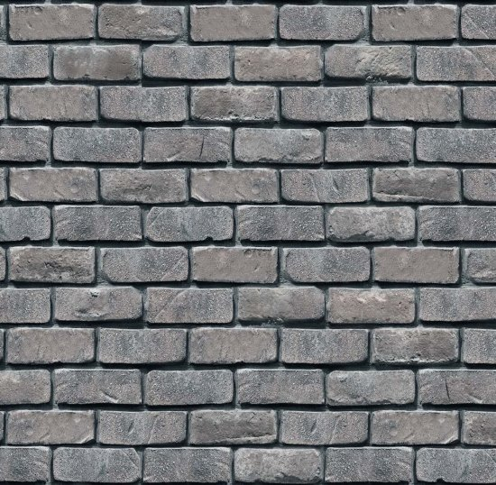 Landscape Medley- Brick Wall- Gray