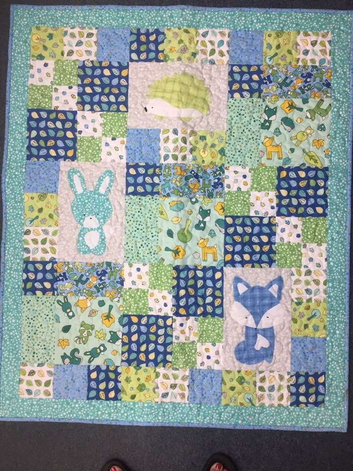 Babe in the Woods Flannel Quilt Kit-40 x 47