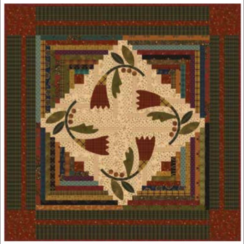 Cotton Blossom - Kim Diehl Simple Whatnot Kit  24.5 x 24.5