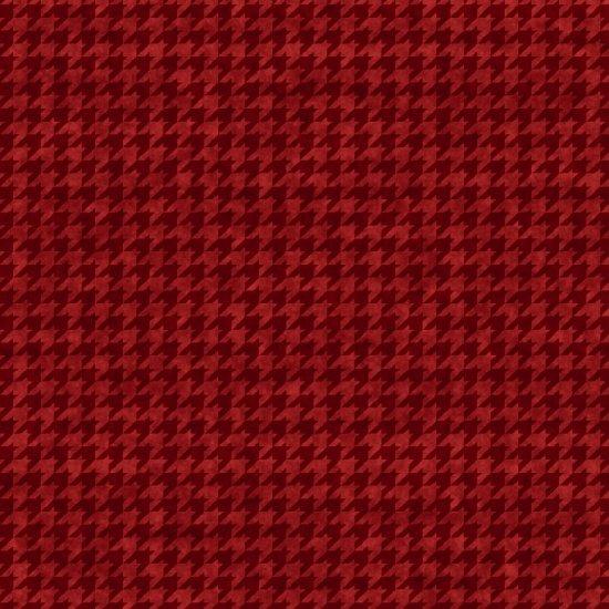 Houndstooth Basics Dark Red