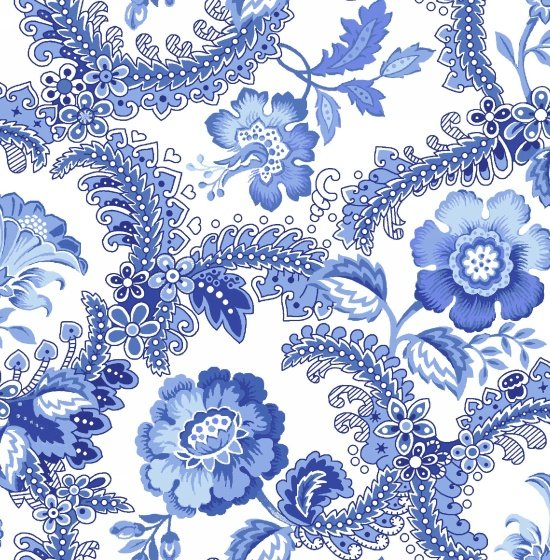 Blue Rhapsody Embellished Floral White
