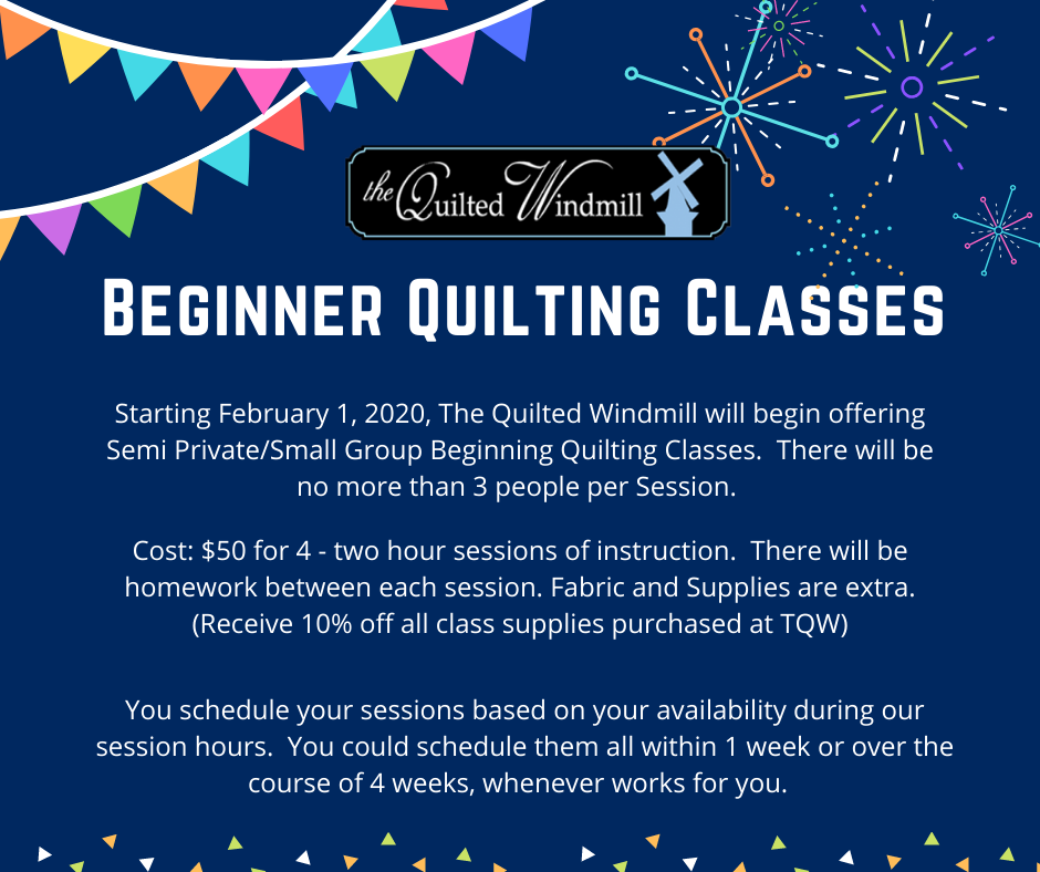 Beginner Quilter Semi-Private Punch Card