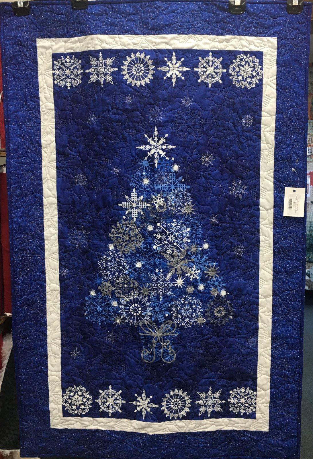 Blue Christmas Tree Wallhanging  32 x 50