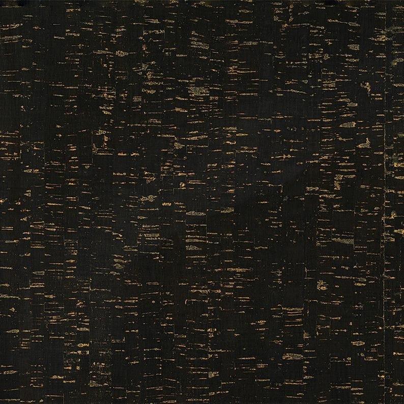 Colored Cork -Black/Gold Metallic