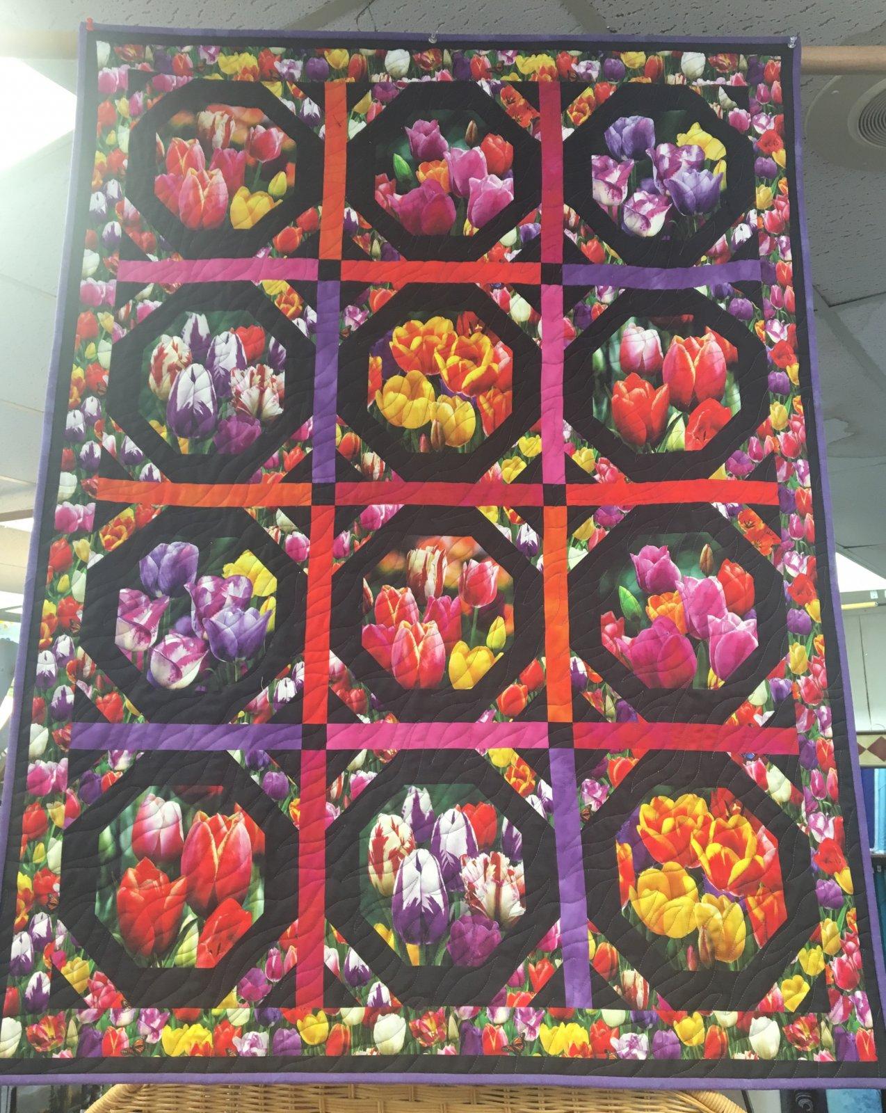 Digital Garden Tulips Wallhanging