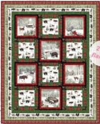 Rustic Charm Flannel Quilt n49 x 61