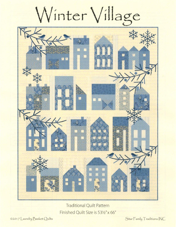 Winter Village Quilt Kit  53 x 66