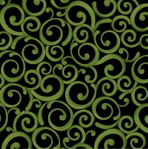 Lucky Shamrocks-Green Scroll