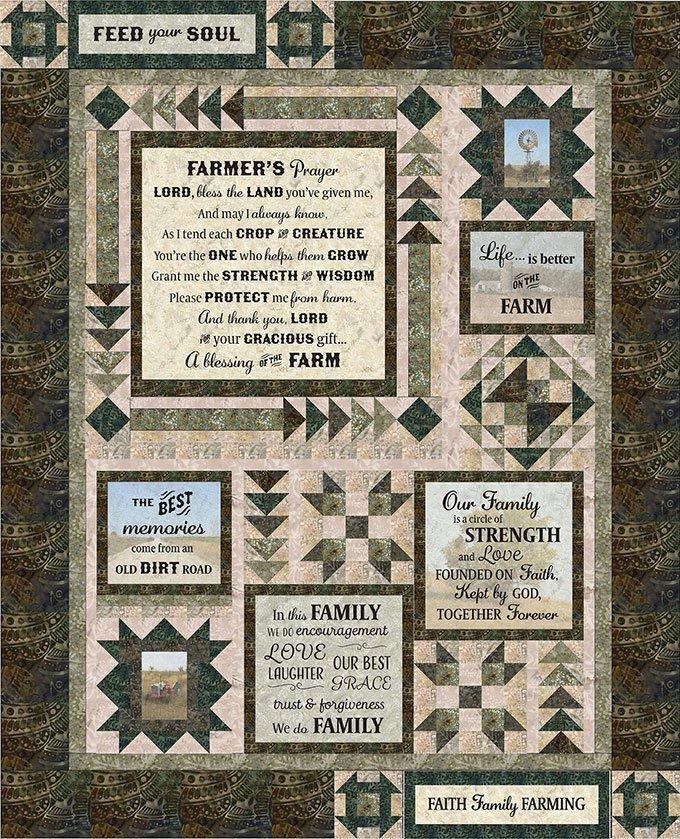 Farmer's Prayer Quilt Kit- 60x74
