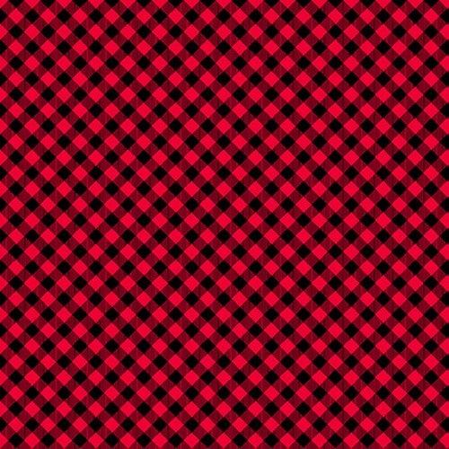 Red/Black 1/8 Buffalo Check