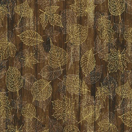 Autumn Beauties Metallic Brown Leaves