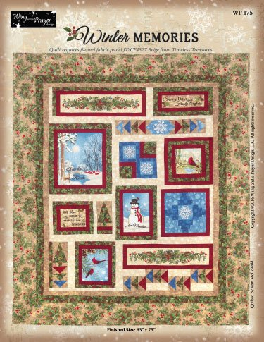 Flannel Winter Memories Quilt-63x 75