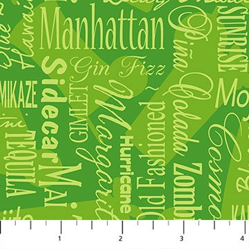 Cheers Cocktails Words on Green