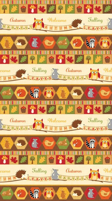 Autumn Welcome Border Signs with Animals