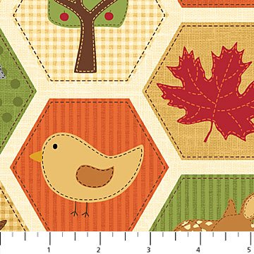 Autumn Welcome Hexies in Autumn Colors with Animals