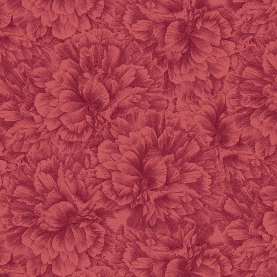 Flower Show Red Tonal Floral