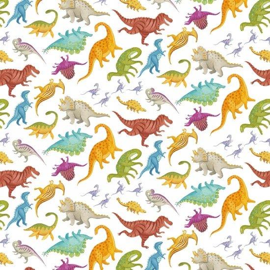 Dino Party Dinosaurs on White