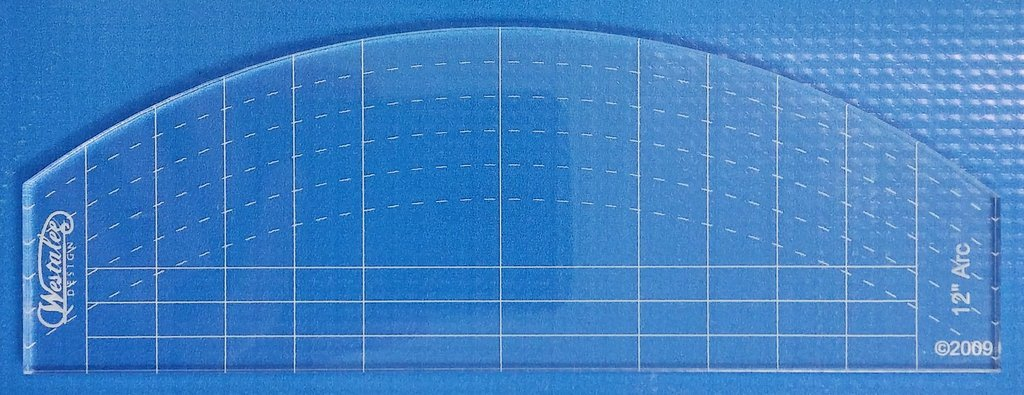 12 Arc / Straight Quilting Ruler High Shank