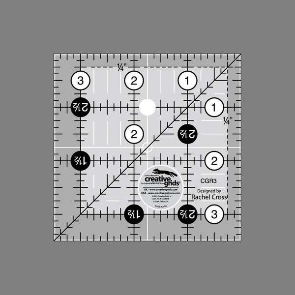Creative Grids Quilting Ruler 3 1/2 in Square