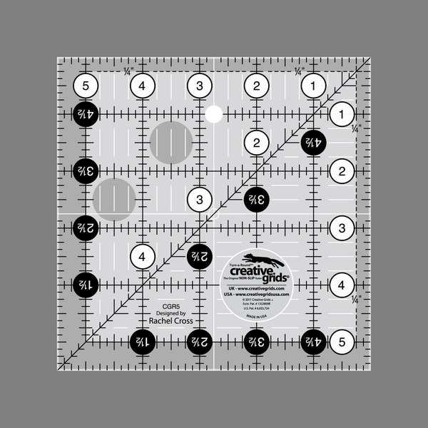 Creative Grids Quilting Ruler 5 1/2 in Square