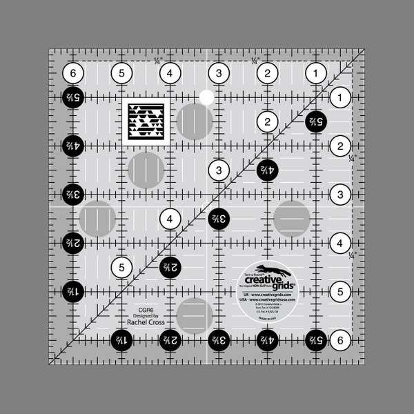 Creative Grids Quilting Ruler 6 1/2 in Square