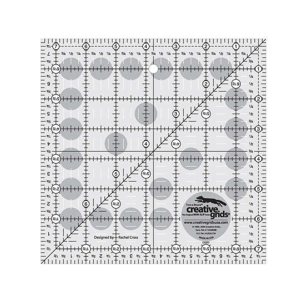 Creative Grids Quilting Ruler 7 1/2 in Square