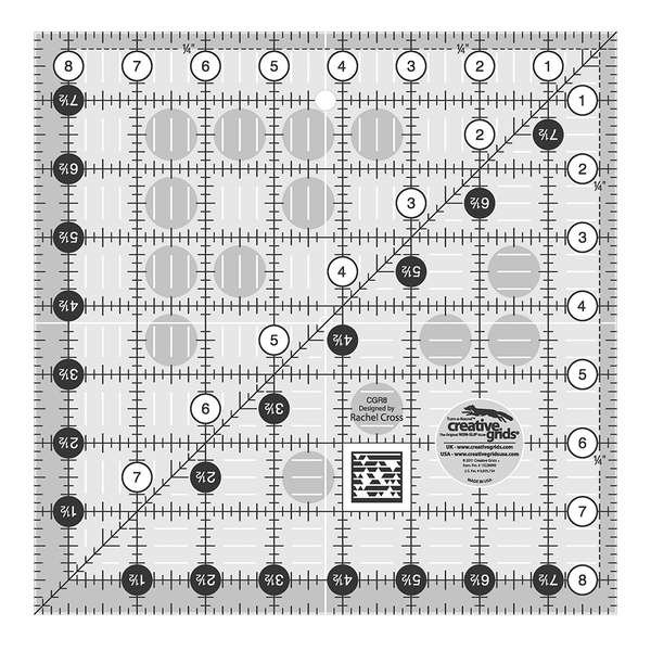 Creative Grids Quilting Ruler 8 1/2 Square