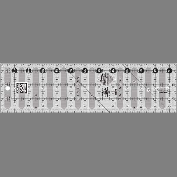 Creative Grids Quick Trim Ruler 3-1/2in X 12-1/2in Rectangle