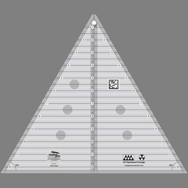 Creative Grids 60 degree Triangle 12 1/2 in