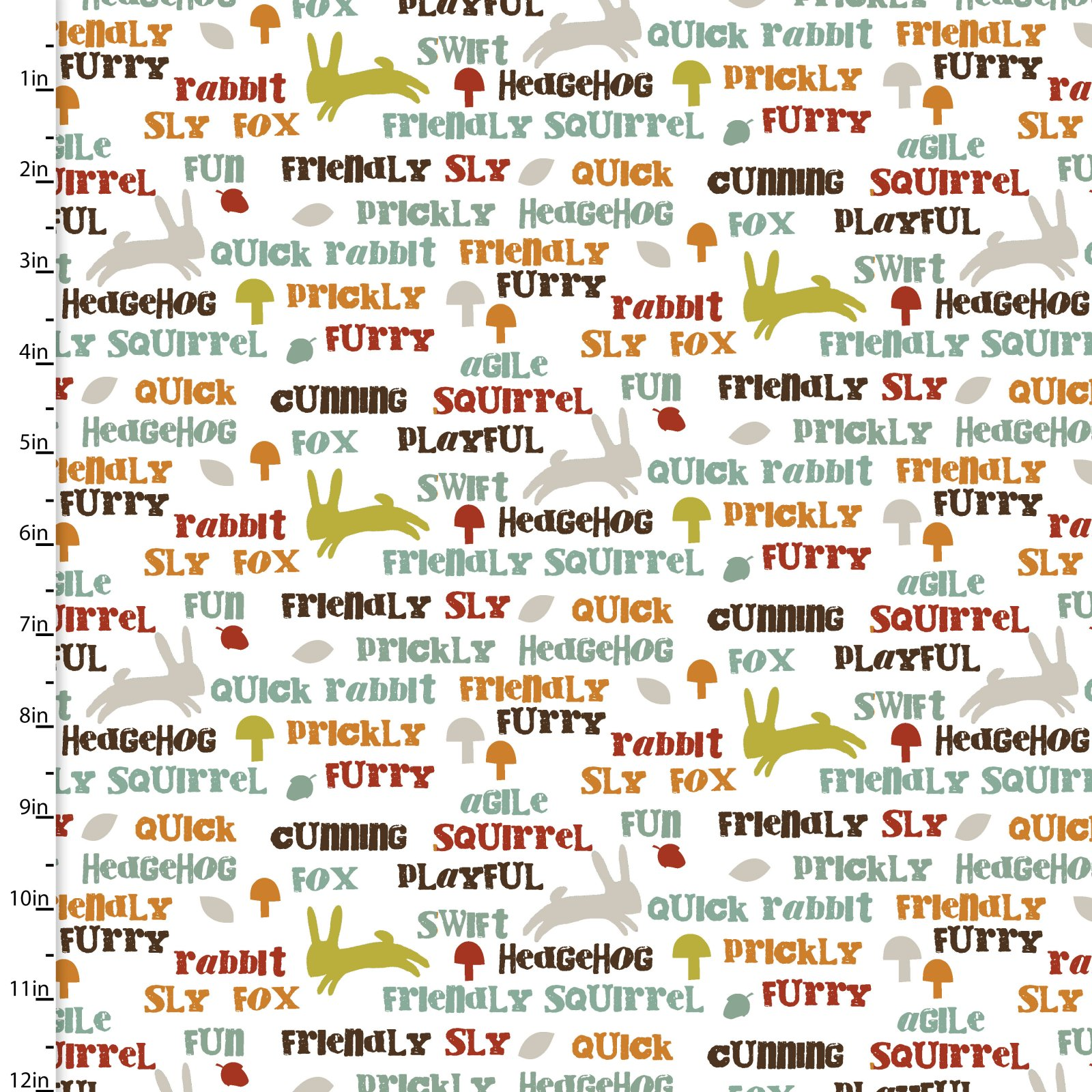 Forest Friends Animal Text