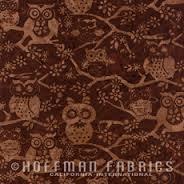 Brown Tonal Owl Batik