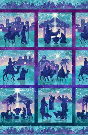 Joy To The World Nativity Blocks Panel