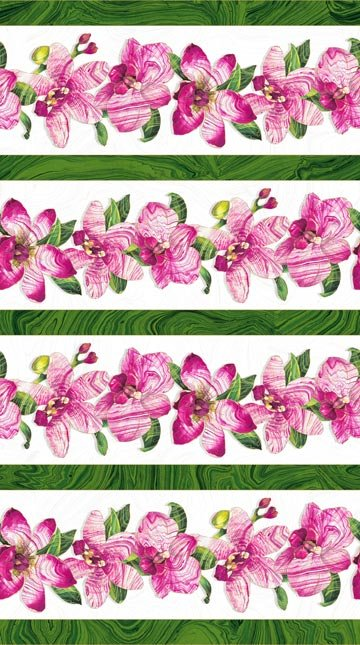 Sandscapes Orchids Large Floral Border Stripe