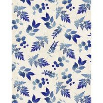 Indi-glow Small Leaves Allover Ivory