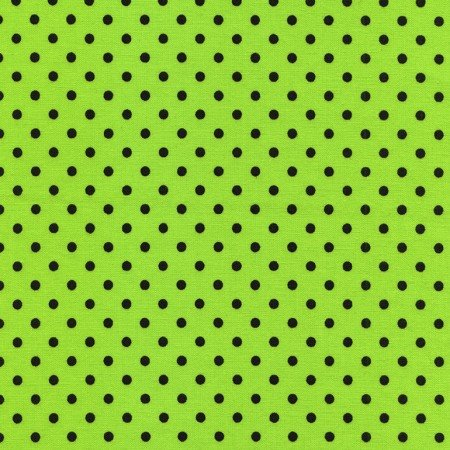Lime Green with Blue Dots Batik