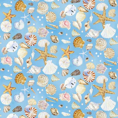 Coastal Shells - Blue