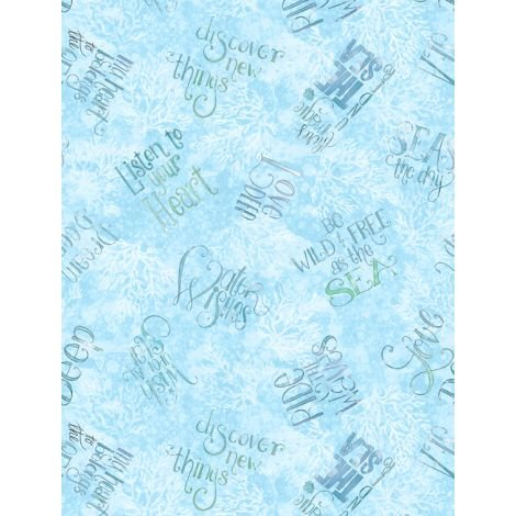 Water Wishes Text - Aqua