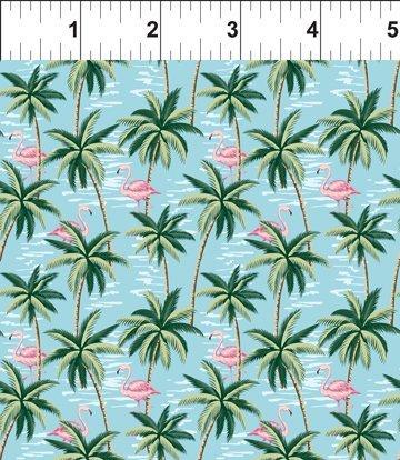 Mini Palms and Flamingos