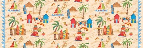 Beach Hut Scene