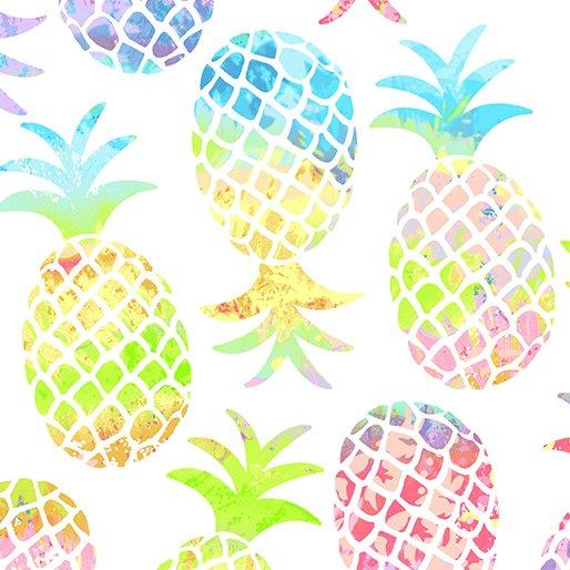 Pineapple Paradise - White