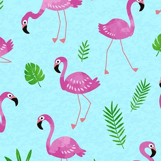 Flamingo Frenzy - Turquoise