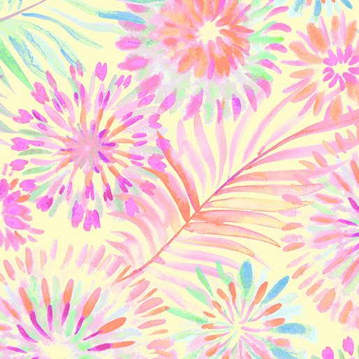 Tropical Fusion Floral - Yellow