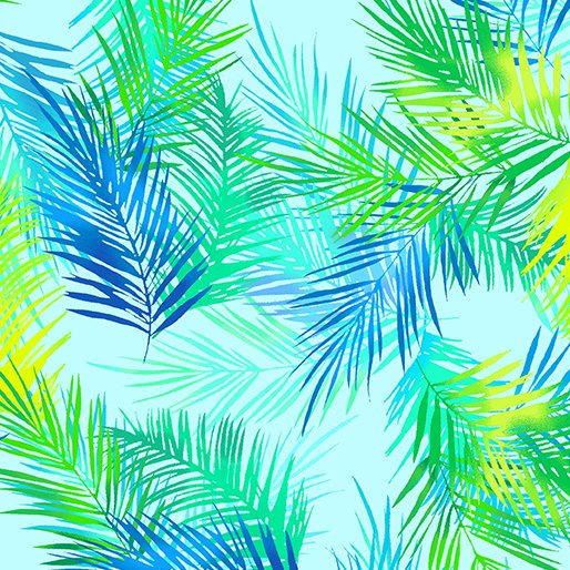 Palm Leaves - Turquoise