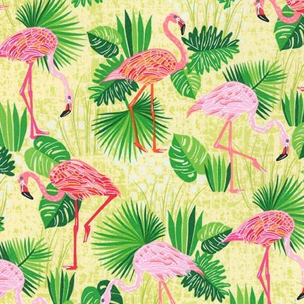 Flamingo Paradise - Green